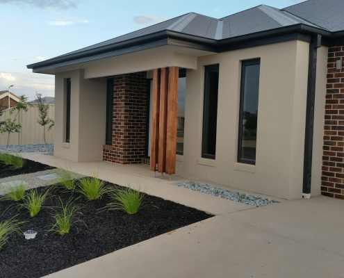 Front view of Shepparton Premier Townhouse
